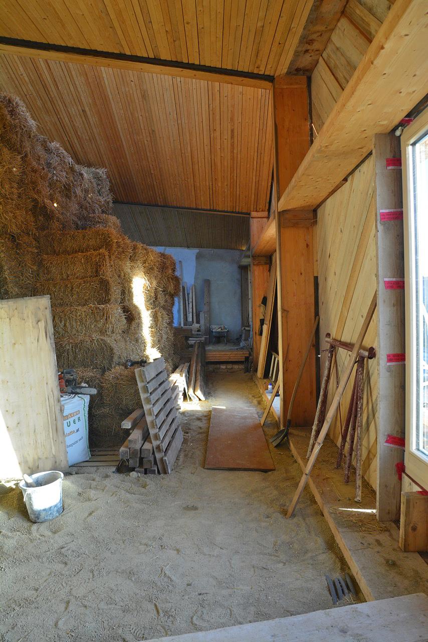 Holzaufbau auf Althaus