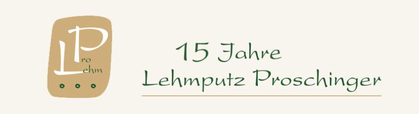 Header 15 Jahre Lehmputz Proschinger