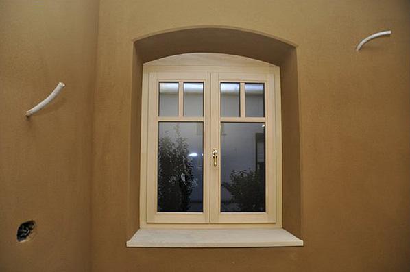 Lehmputz Fensternische