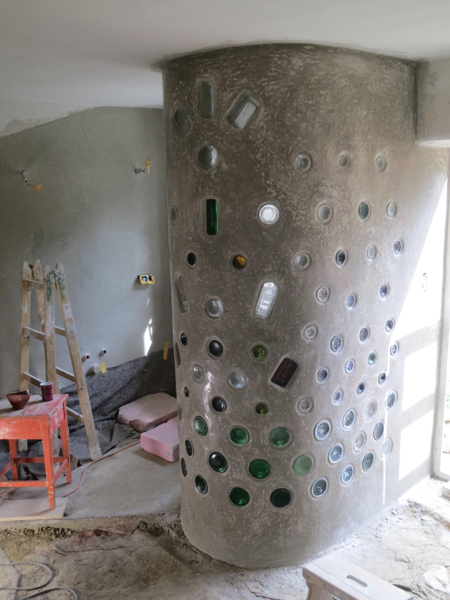 Niedersulz Tadelakt Dusche in Trocknungsphase