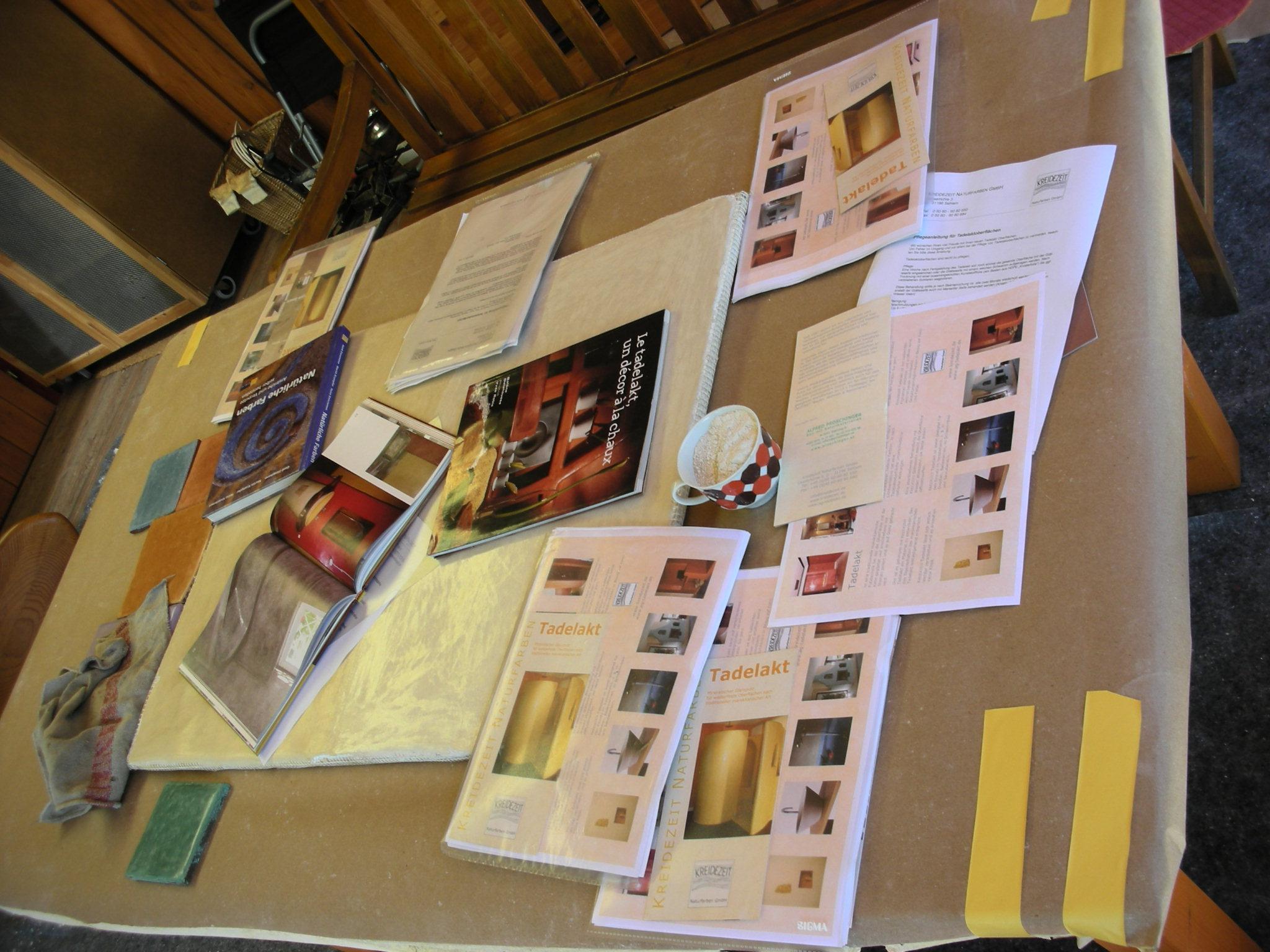 Tadelakt Workshop 2009 Büchertisch