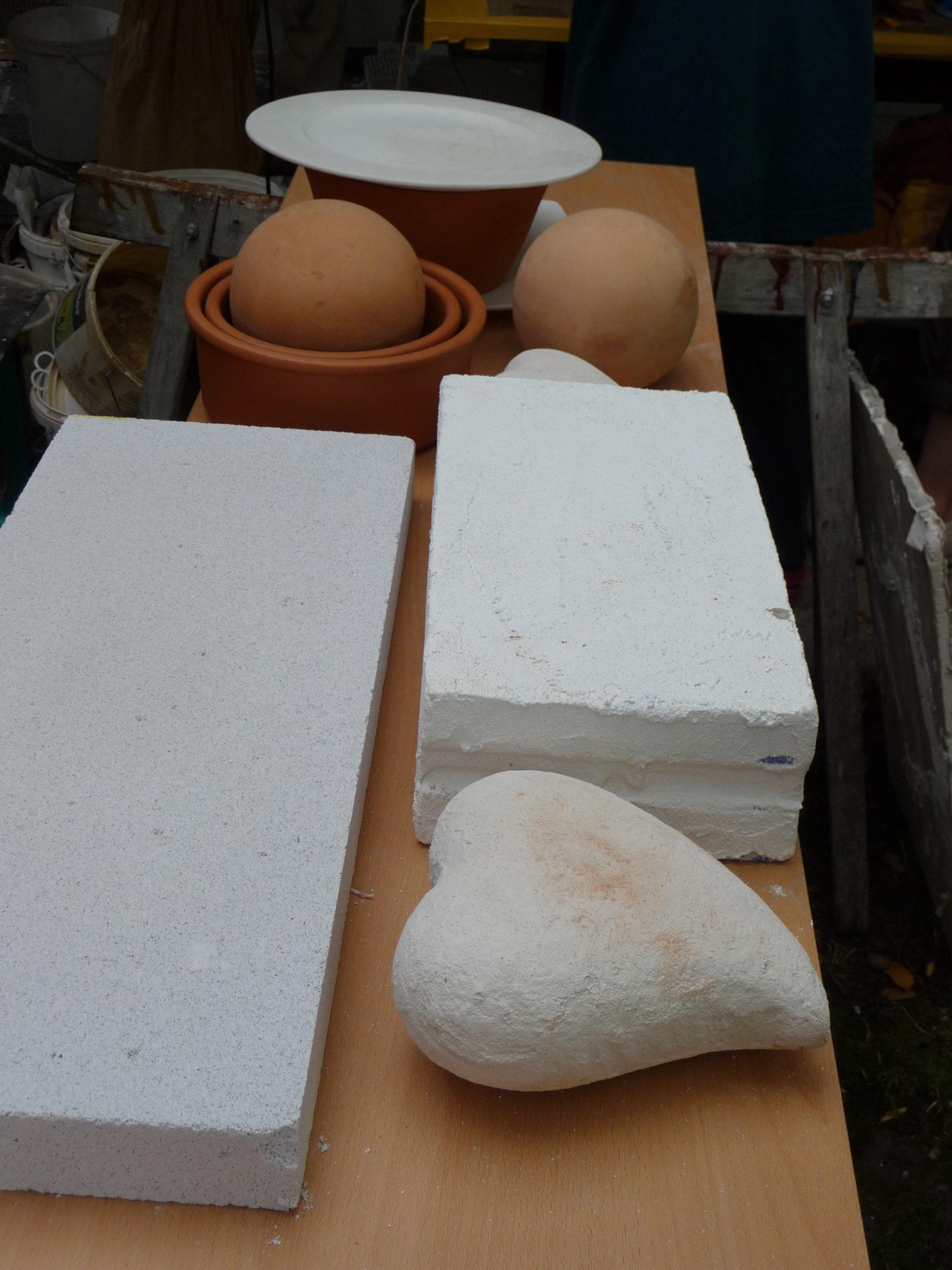 Tadelakt Workshop 2010 Objekte vorher