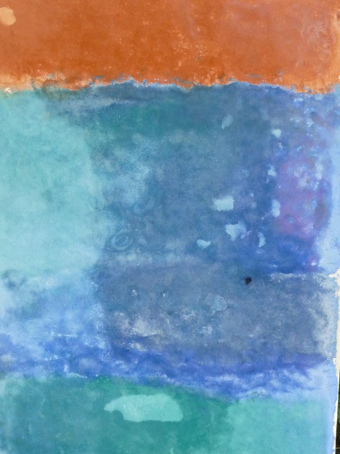 Tadelakt Workshop 2010 Farbeübergang