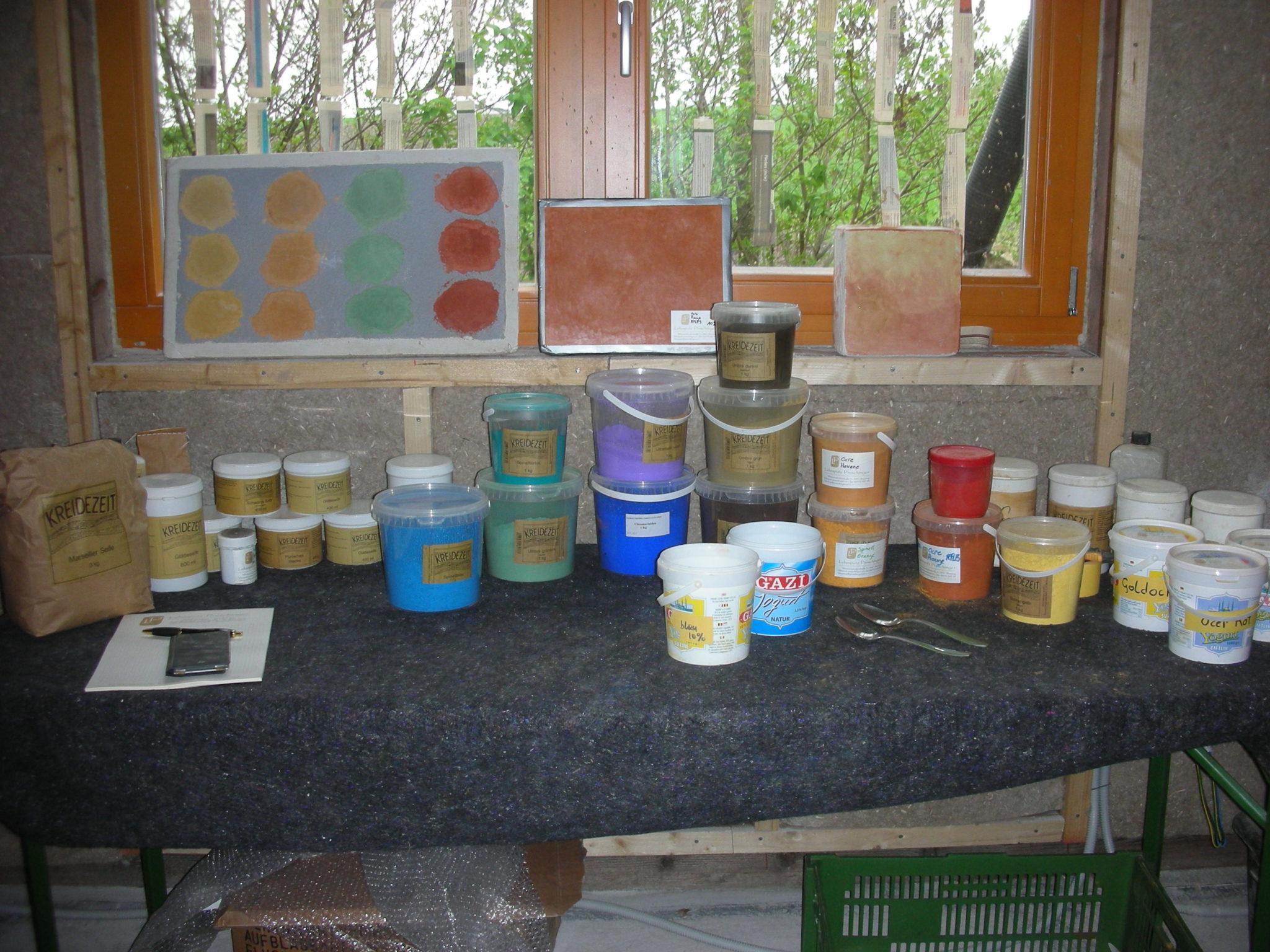 Tadelakt Workshop 2012 Material Farbpigmente