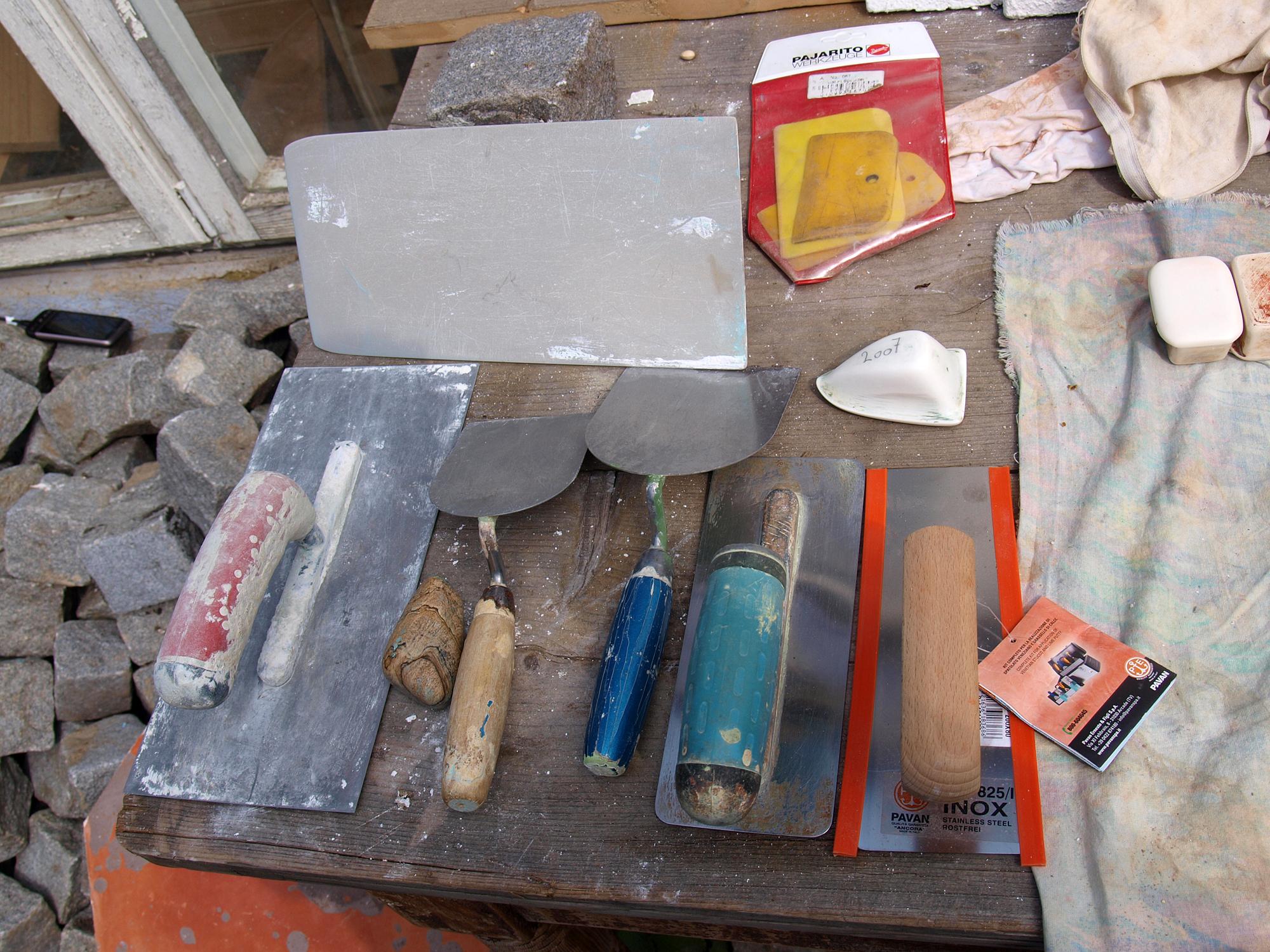 Tadelakt Workshop 2013 Werkzeug